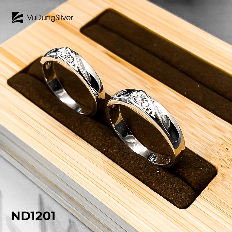 Nhẫn đôi bạc ND1201