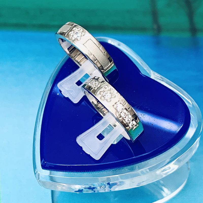 Nhẫn đôi bạc ND1155