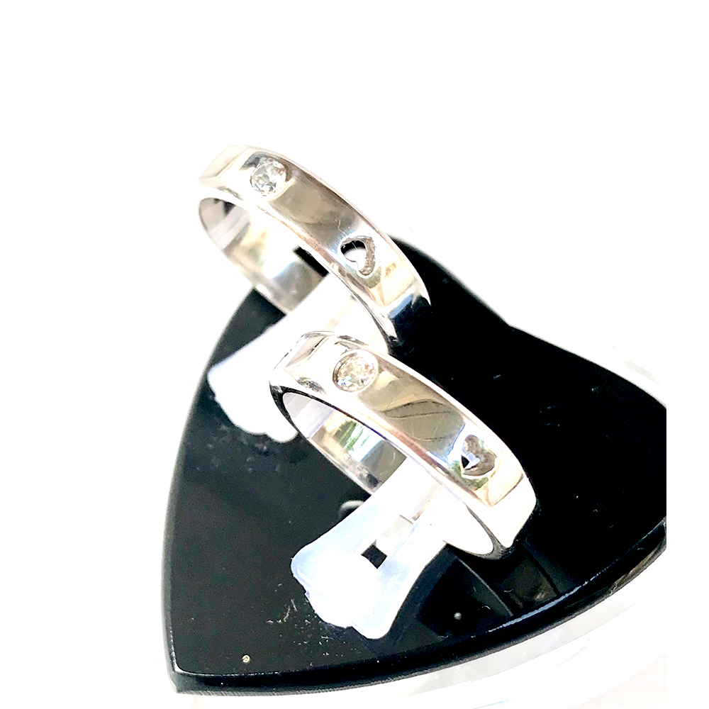 Nhẫn đôi bạc ND1002