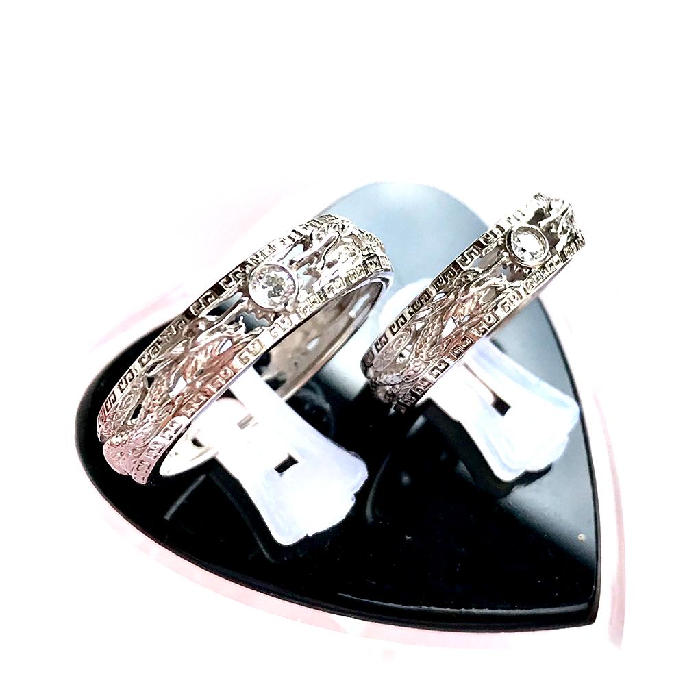 Nhẫn đôi bạc ND1008