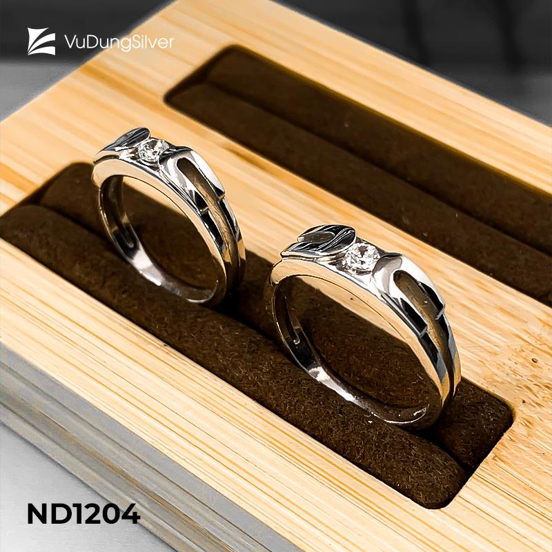 Nhẫn đôi bạc ND1204