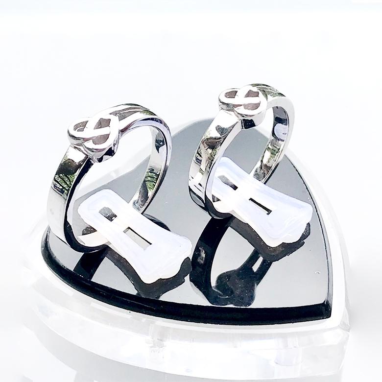 Nhẫn đôi bạc ND1095