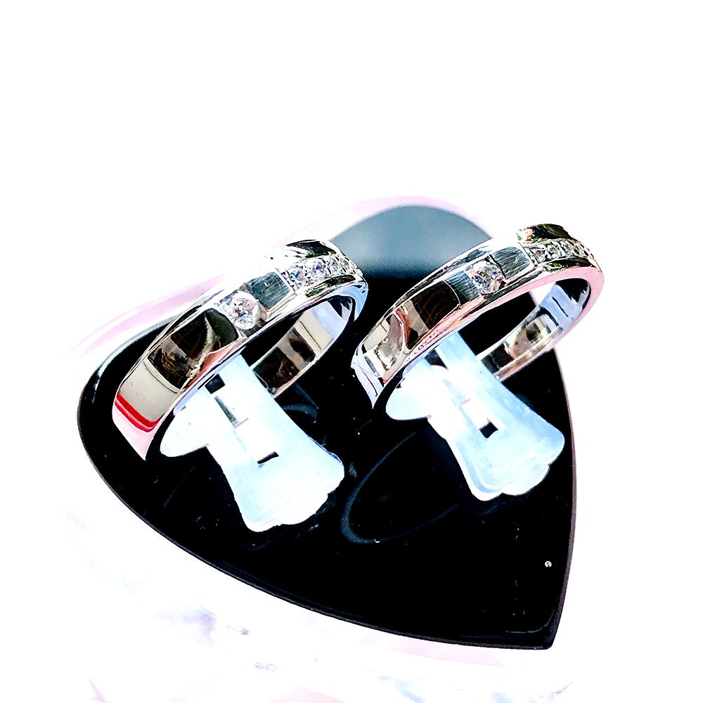 Nhẫn đôi bạc ND1006