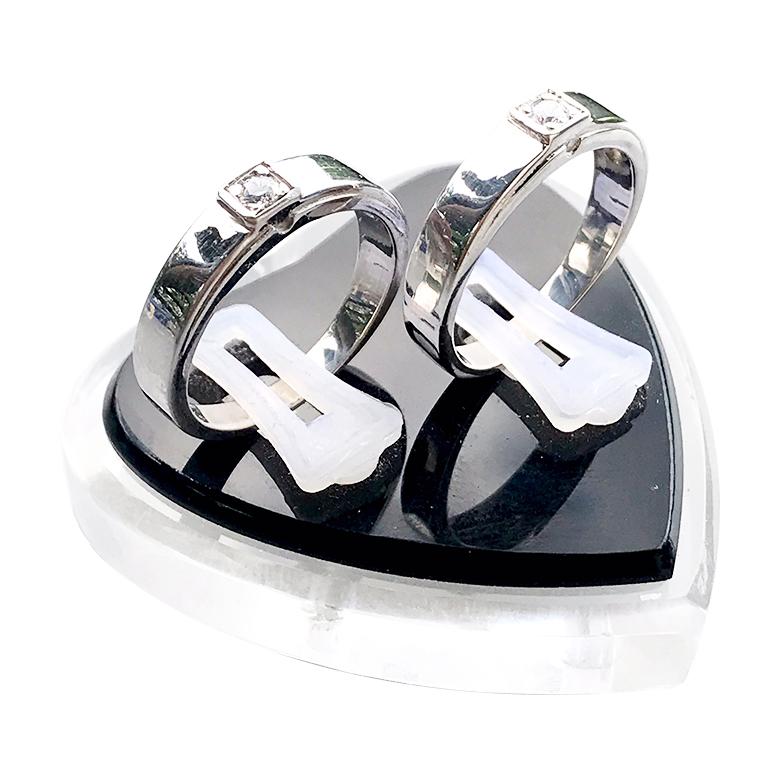 Nhẫn đôi bạc ND1064