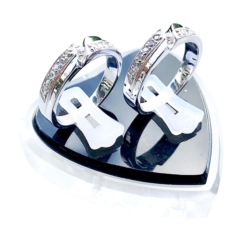 Nhẫn đôi bạc ND1068