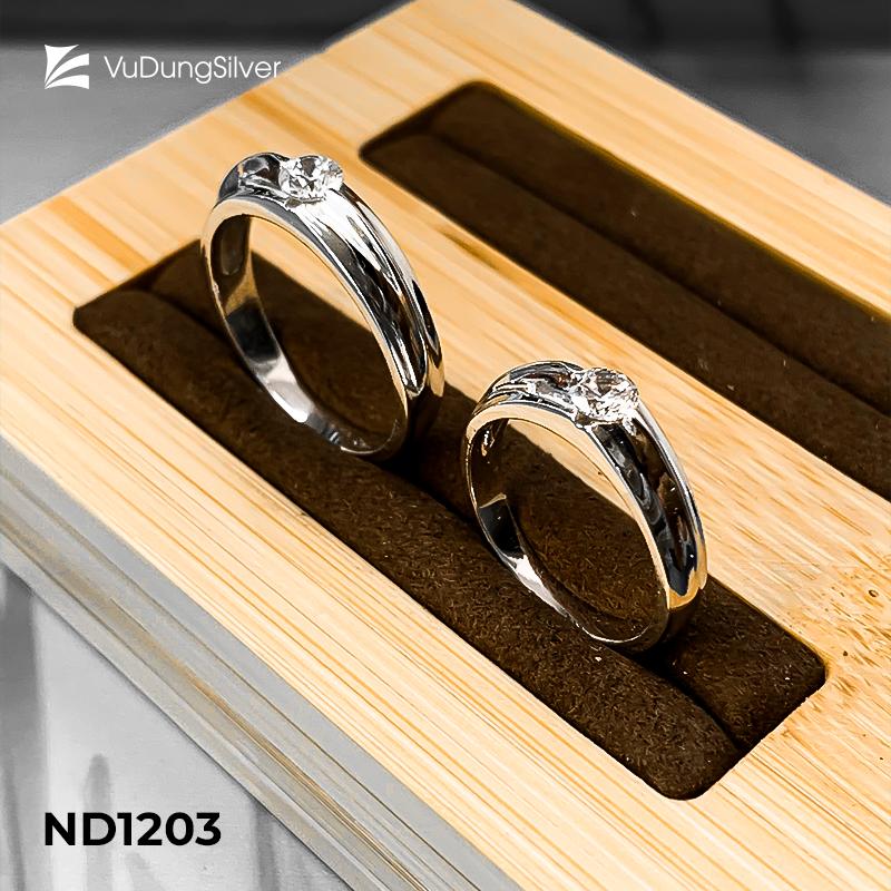 Nhẫn đôi bạc ND1203