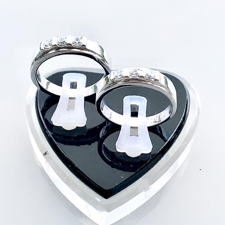 Nhẫn đôi bạc ND1085