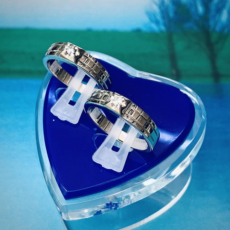 Nhẫn đôi bạc ND1147