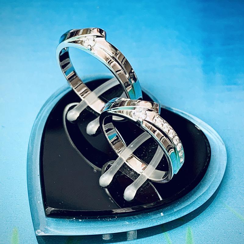 Nhẫn đôi bạc ND1144