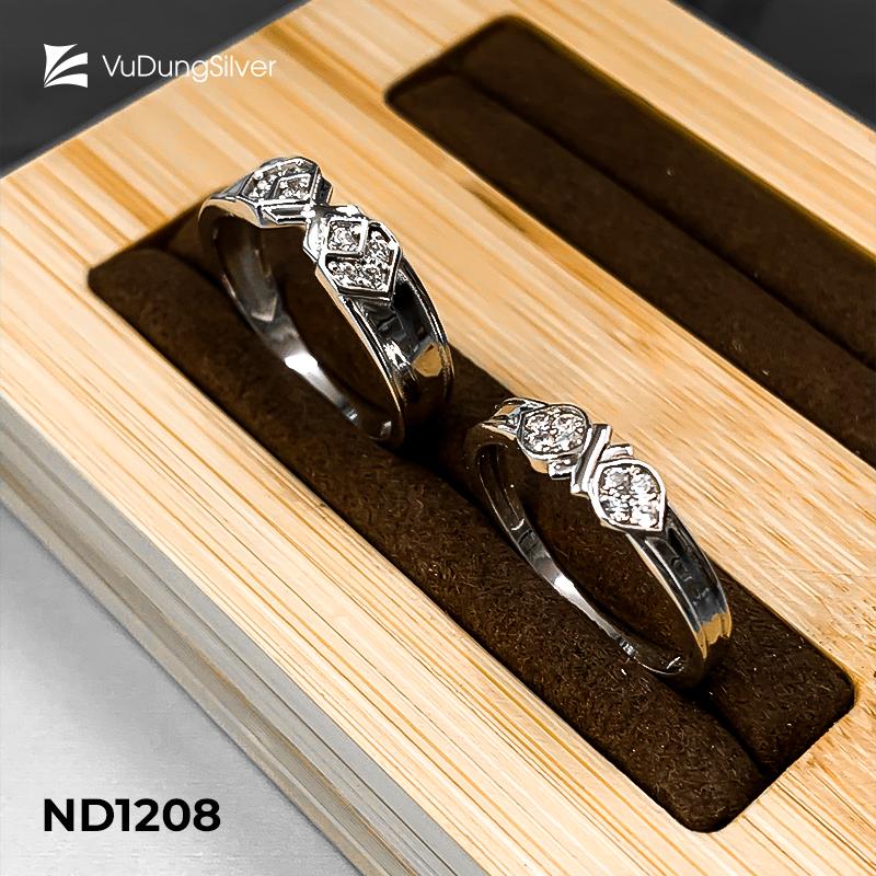 Nhẫn đôi bạc ND1208