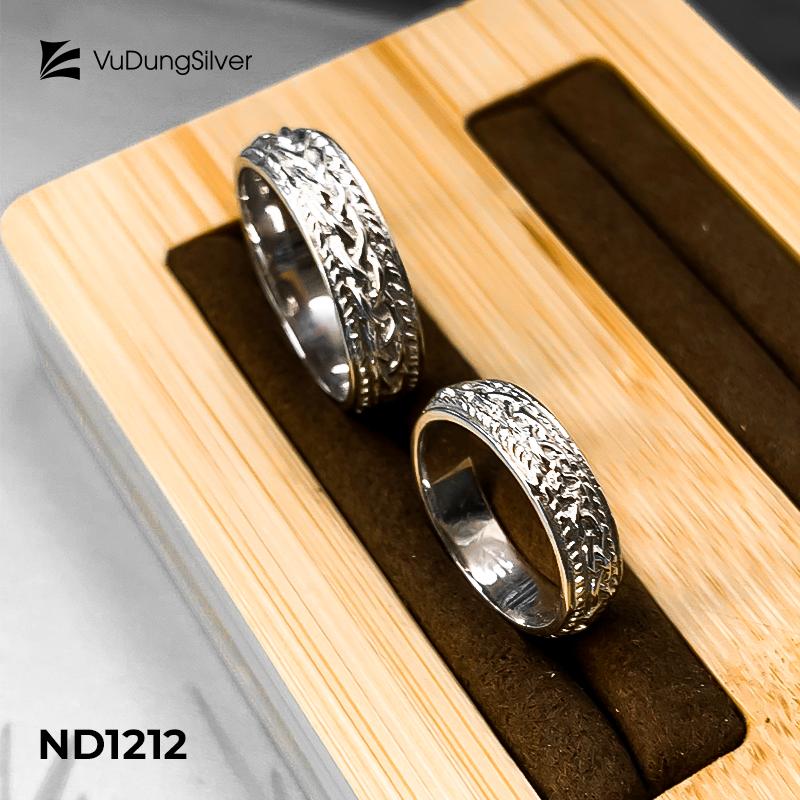 Nhẫn đôi bạc ND1212