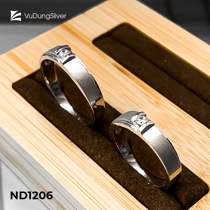 Nhẫn đôi bạc ND1206