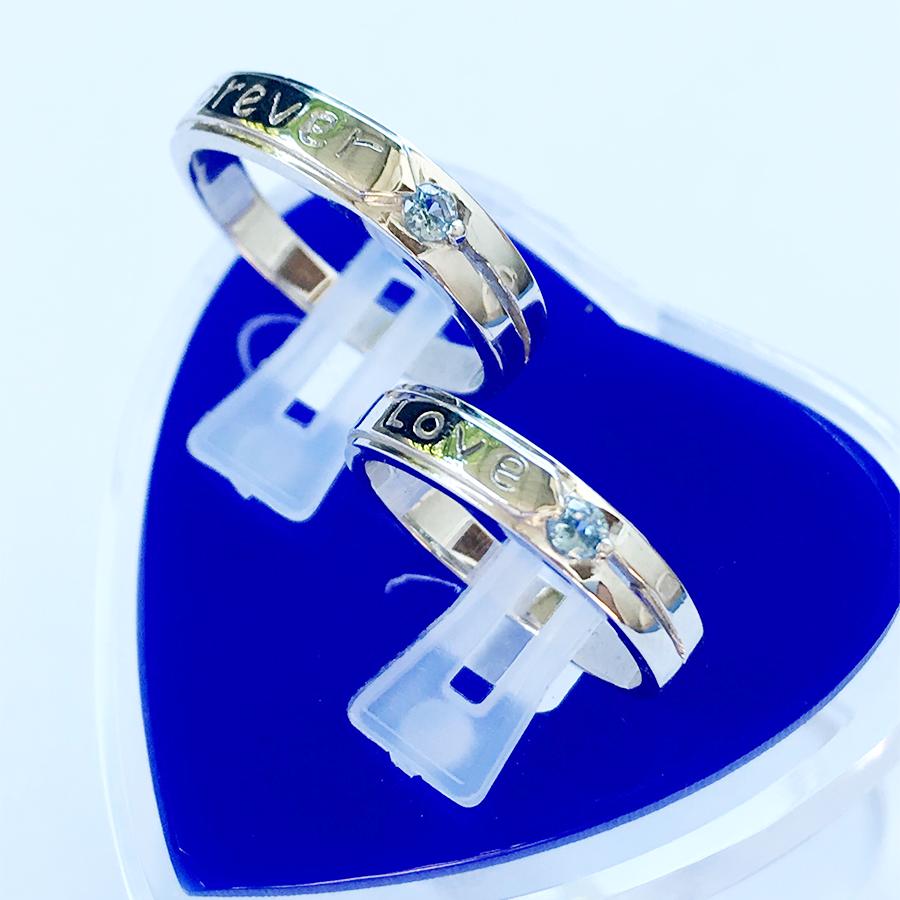 Nhẫn đôi bạc ND1113