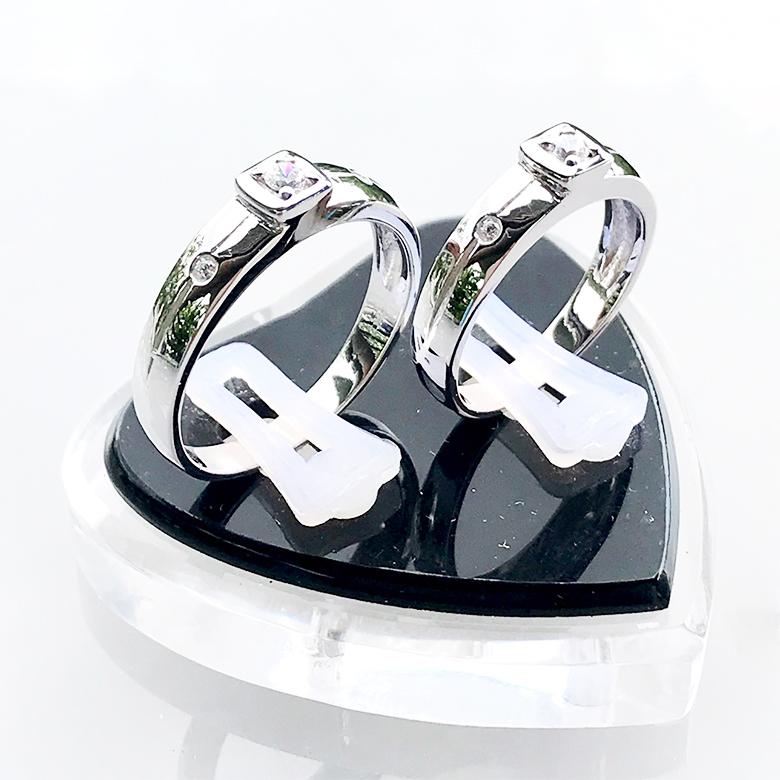 Nhẫn đôi bạc ND1091