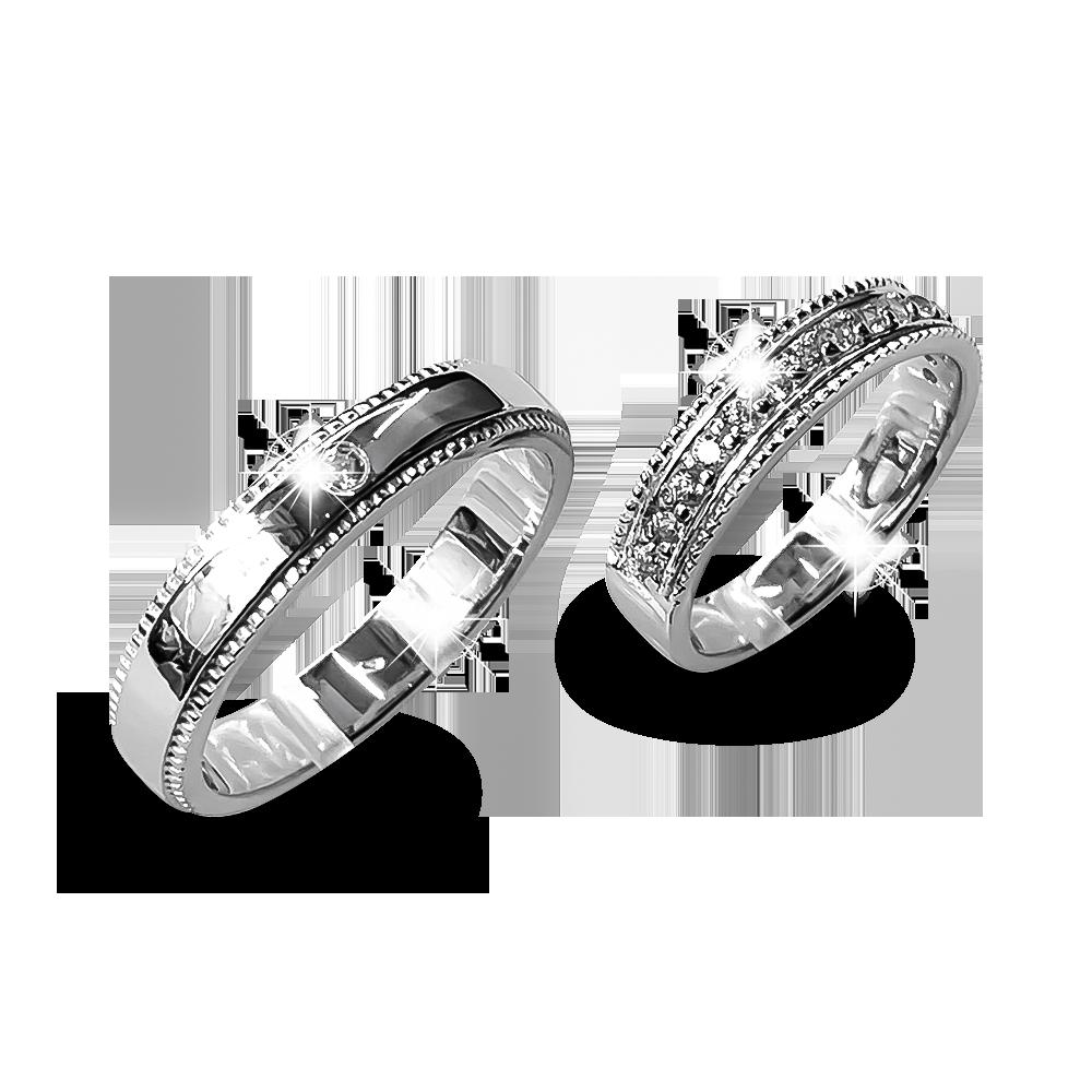Nhẫn đôi bạc ND1171