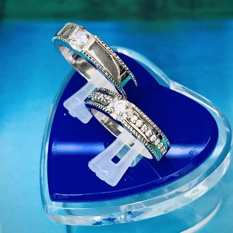 Nhẫn đôi bạc ND1140
