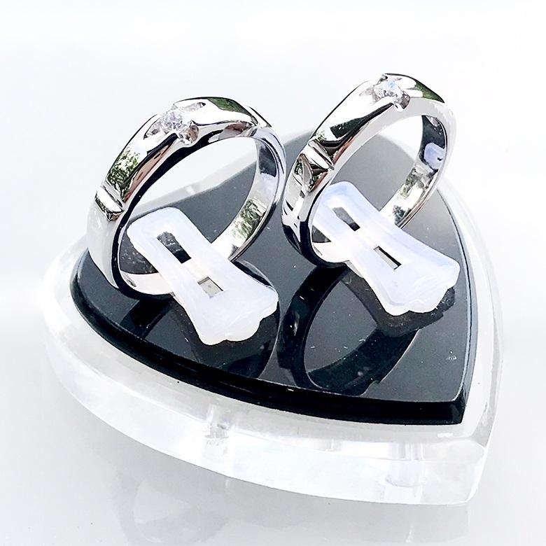 Nhẫn đôi bạc ND1089