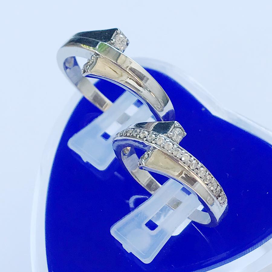 Nhẫn đôi bạc ND1118