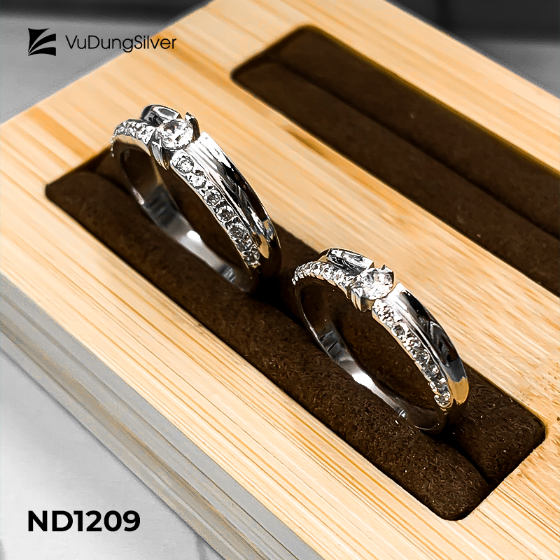 Nhẫn đôi bạc ND1209