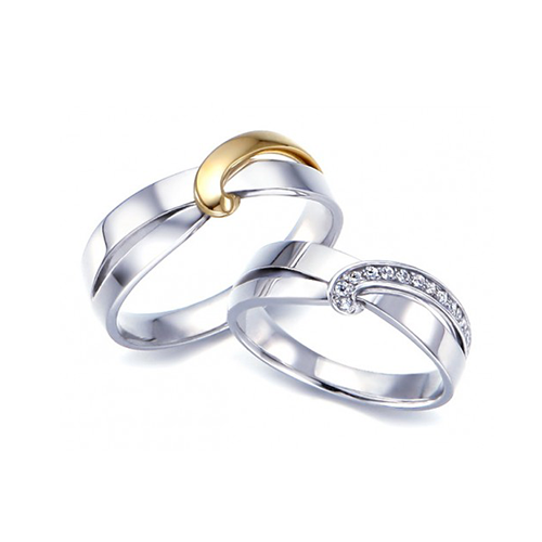 Nhẫn đôi bạc ND0006