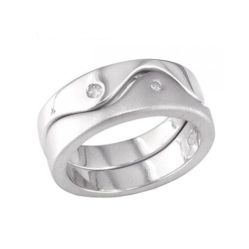 Nhẫn đôi bạc ND0020