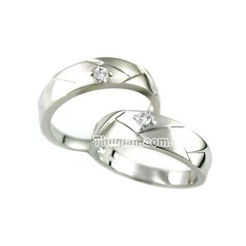 Nhẫn đôi bạc ND0048