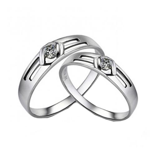 Nhẫn đôi bạc ND0227