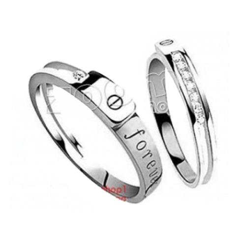 Nhẫn đôi bạc ND0234