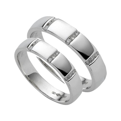 Nhẫn đôi bạc ND0273