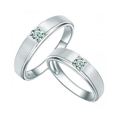 Nhẫn đôi bạc ND0292