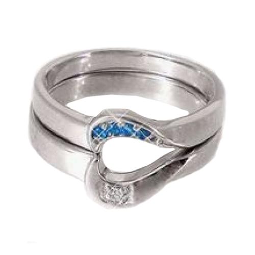 Nhẫn đôi bạc ND0311