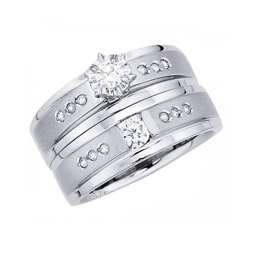 Nhẫn đôi bạc ND0320