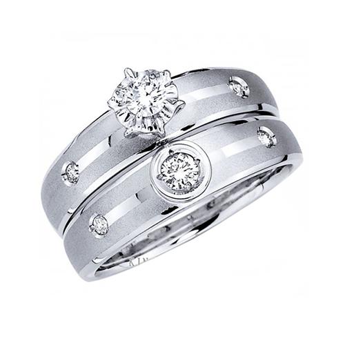 Nhẫn đôi bạc ND0322