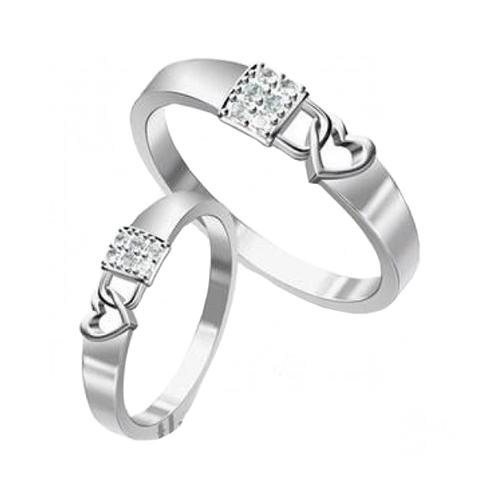 Nhẫn đôi bạc ND0359