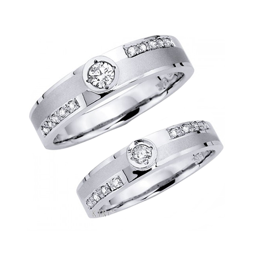 Nhẫn đôi bạc ND0360