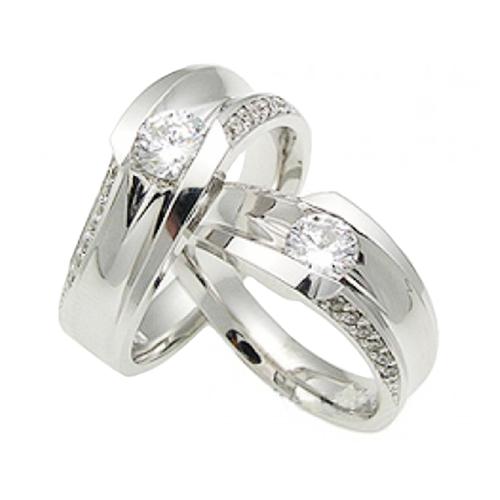 Nhẫn đôi bạc ND0371
