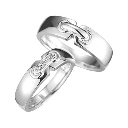 Nhẫn đôi bạc ND0380