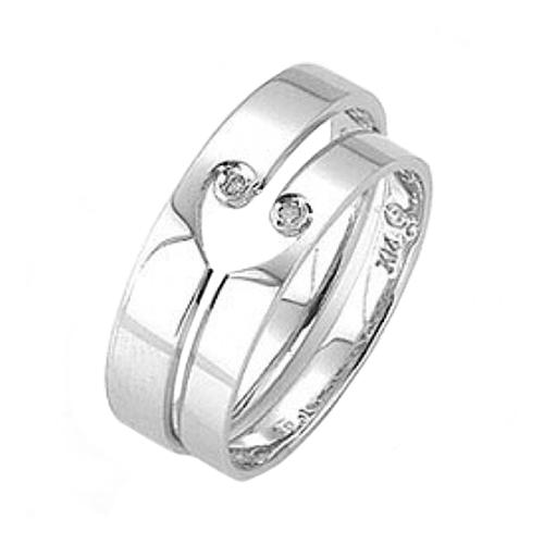 Nhẫn đôi bạc ND0384