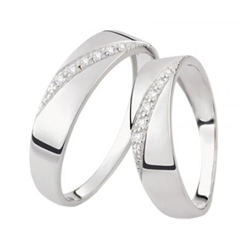 Nhẫn đôi bạc ND0454