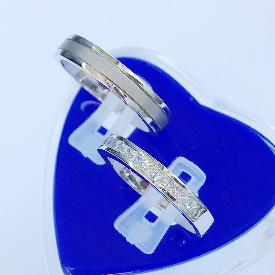 Nhẫn đôi bạc ND1121