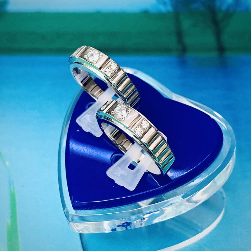 Nhẫn đôi bạc ND1148