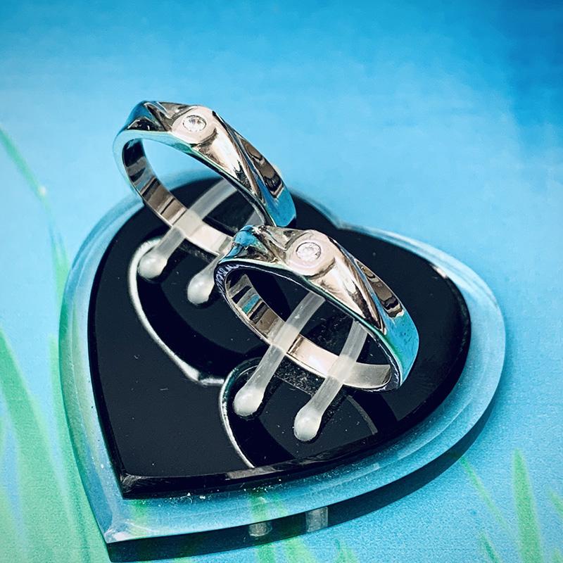Nhẫn đôi bạc ND1143