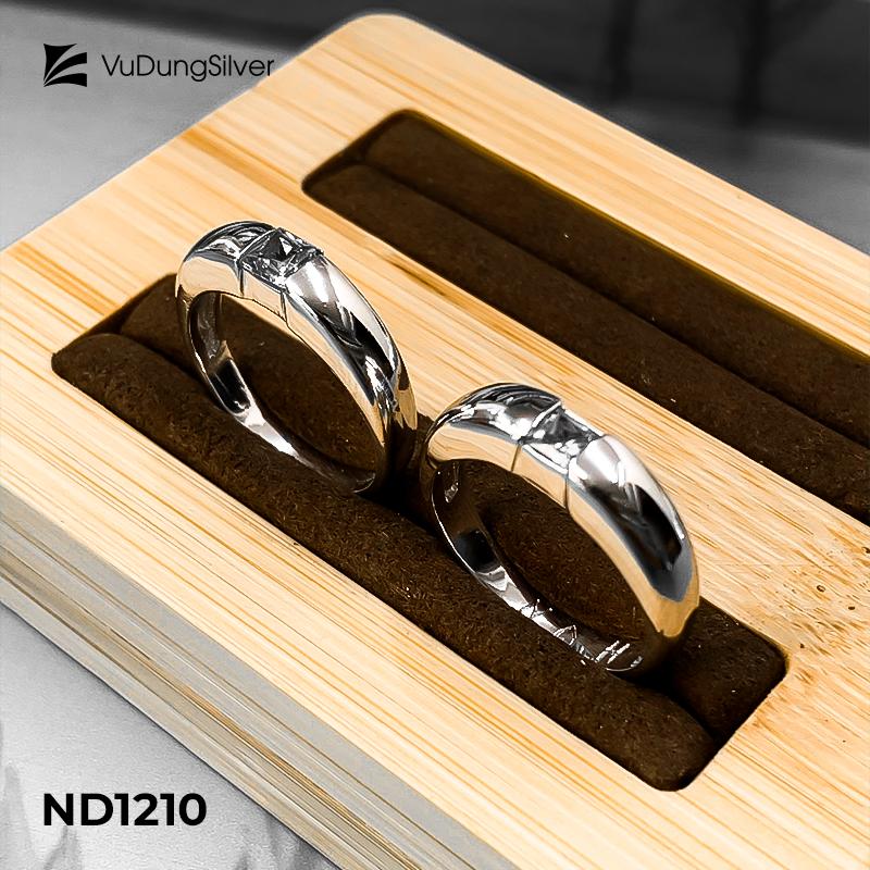 Nhẫn đôi bạc ND1210