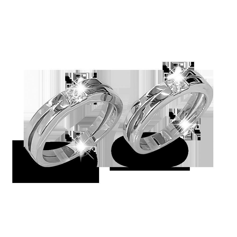 Nhẫn đôi bạc ND1195