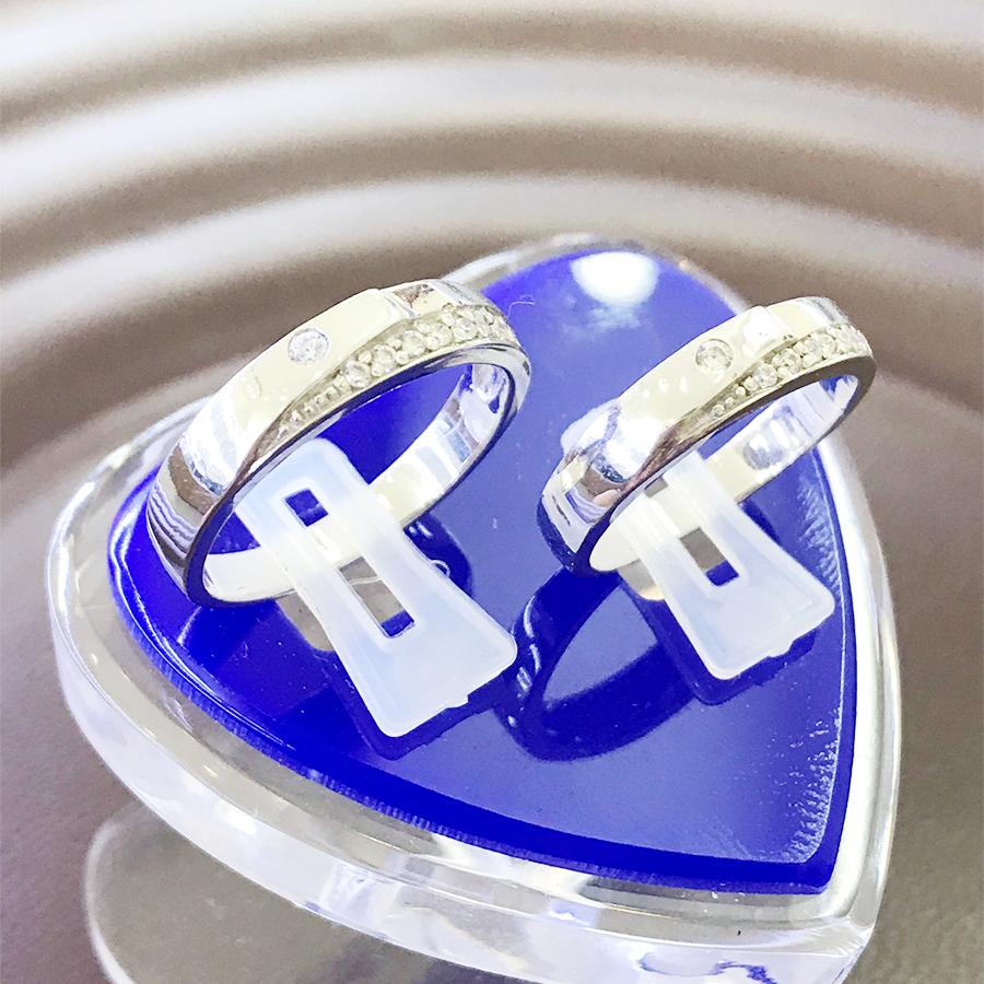 Nhẫn đôi bạc ND1108