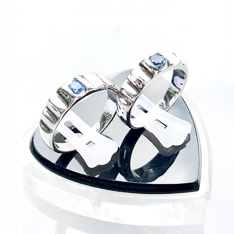 Nhẫn đôi bạc ND1096