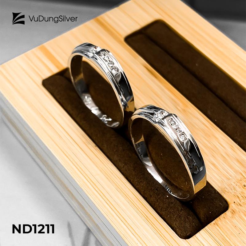 Nhẫn đôi bạc ND1211