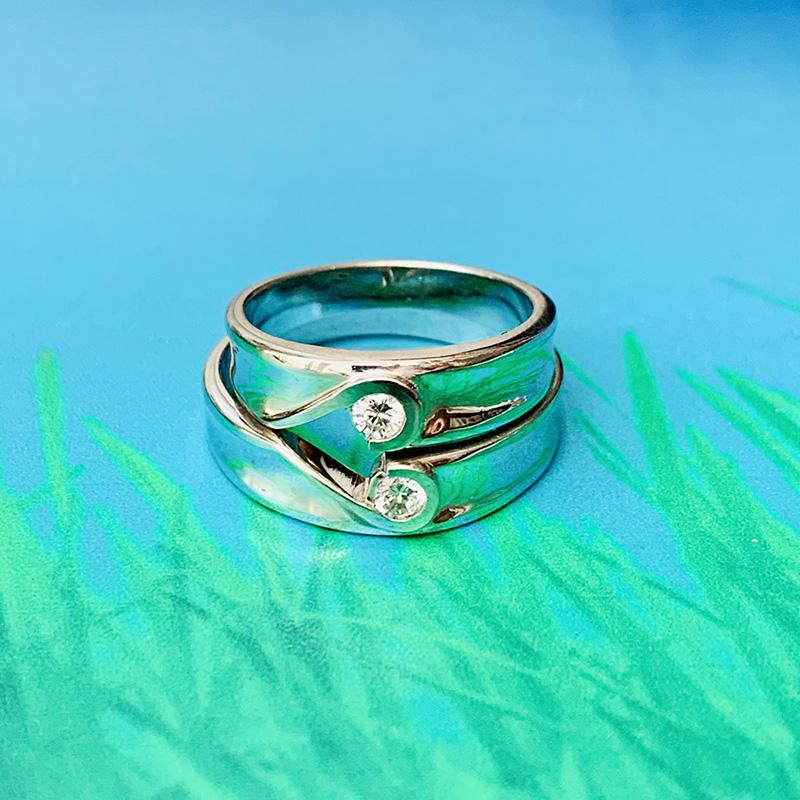 Nhẫn đôi bạc ND1161