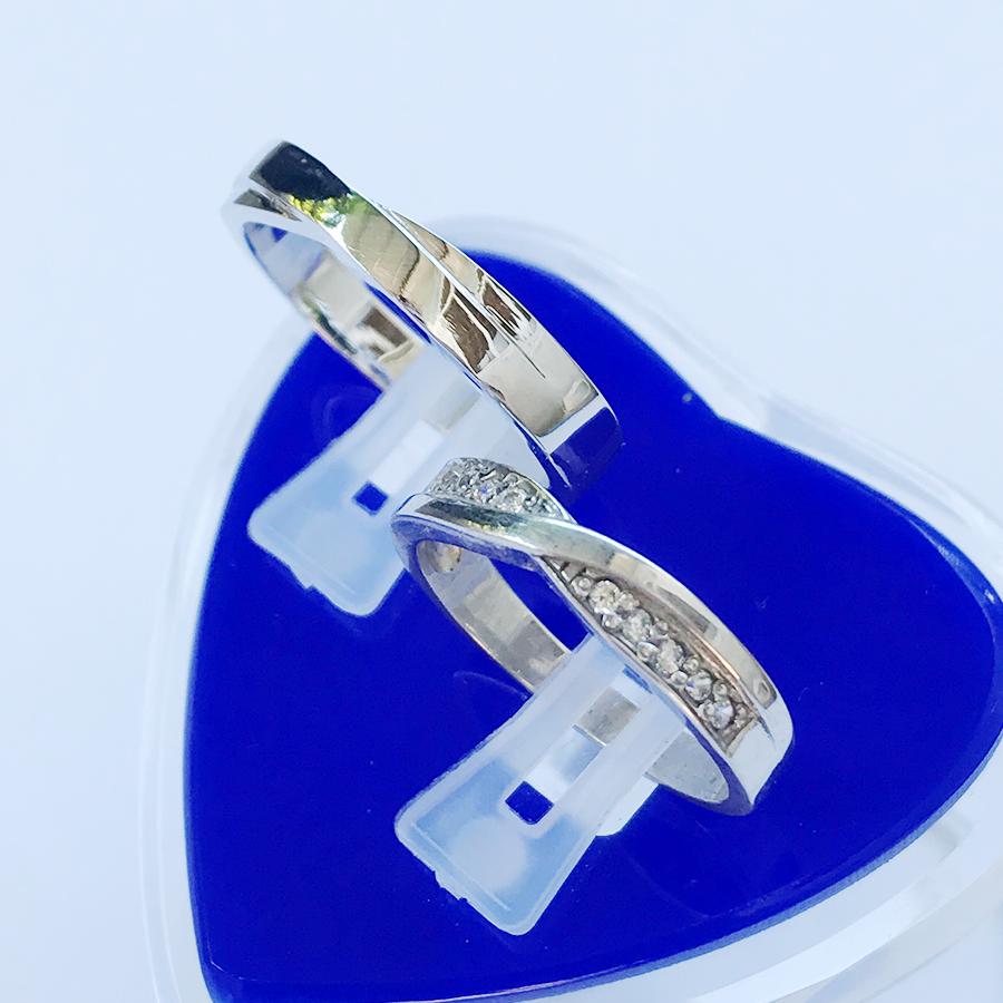 Nhẫn đôi bạc ND1114