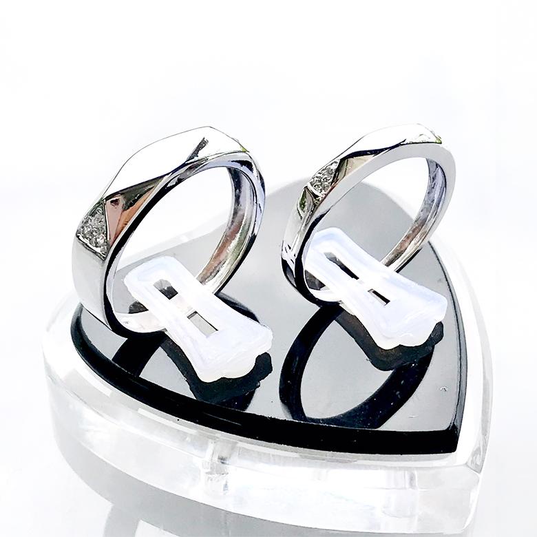 Nhẫn đôi bạc ND1097